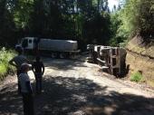 omgevallen truck