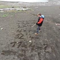 rekenen op het strand