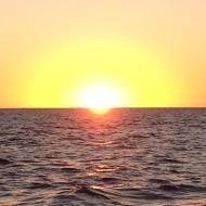 Zonsondergang op de Golfo Nuevo