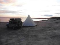 Wild camping op de mooiste plaats van het schiereiland