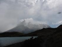 Torres del Paine, hardnekkig in de wolken